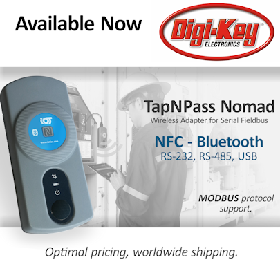 Buy TapNPass for wireless fieldbus at Digi-Key!