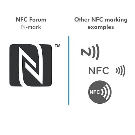 NFC N-mark and other NFC markings